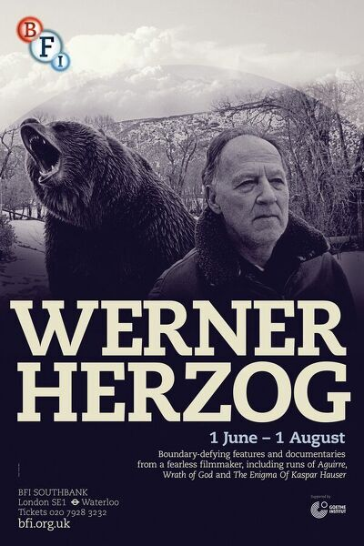 BFI Southbank Poster Werner Herzog Grizzly Man (2005)