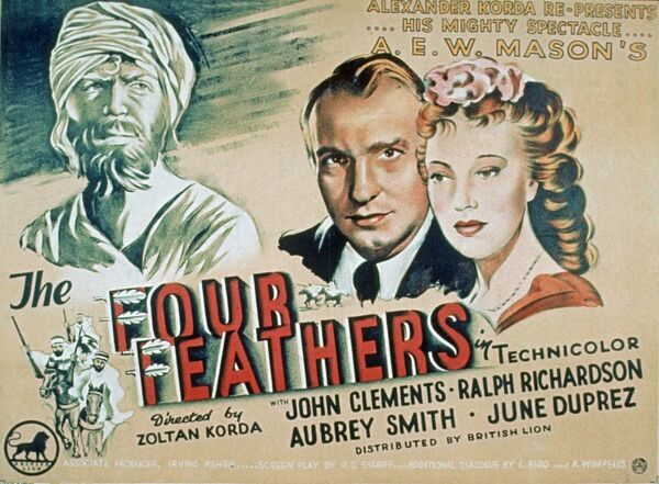 Poster for Zoltan Korda's The Four Feathers (1939)