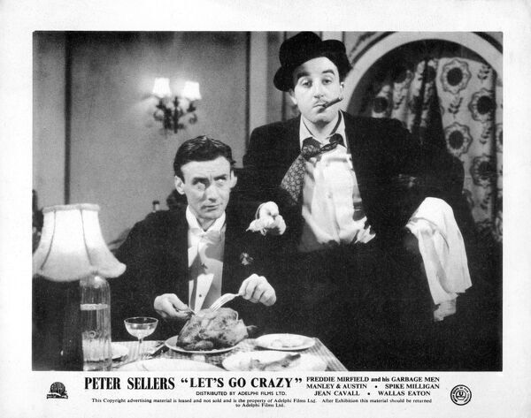 Spike Milligan and Peter Sellers in Alan J Cullimore's Let's Go Crazy (1951)
