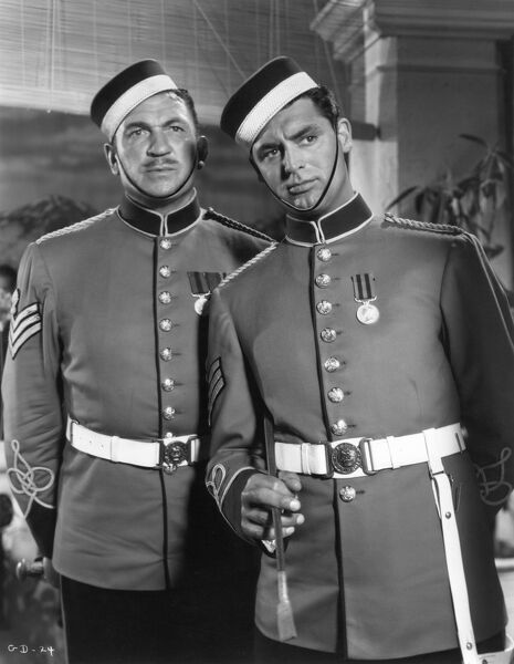 Victor McLaglen and Cary Grant in George Steven's Gunga Din (1939)