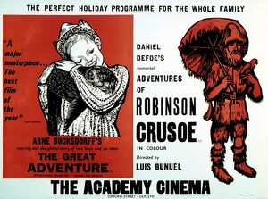 Academy Poster for Arne Sucksdorff's The Great Adventure (1953) and Luis Bunuel's