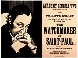 Academy Poster for Bertrand Tavernier's The Watchmaker Of Saint-Paul (1973)