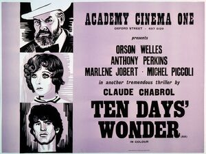 Academy Poster for Claude Chabrol's Ten Days' Wonder (1971)