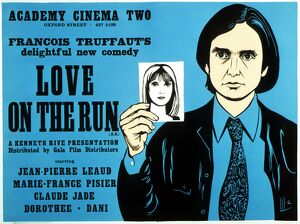 Academy Poster for Francios Truffaut's Love On The Run (1978)