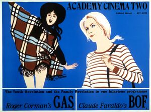 Academy Poster for Gas (Roger Corman, 1970) and Bof (Claude Faraldo, 1971) Double Bill