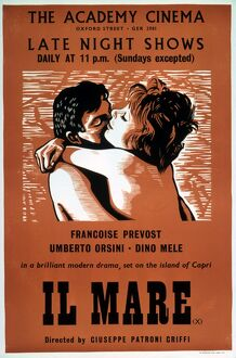 Academy Poster for Giuseppe Patroni Griffi's Il Mare (1963)