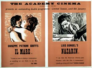Academy Poster for Il Mare (Giuseppe Patroni Griffi, 1963) and Nazarin (Luis Bunuel