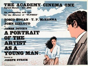 Academy Poster for Joseph Strick's A Portrait of the Artist as a Young Man (1977)