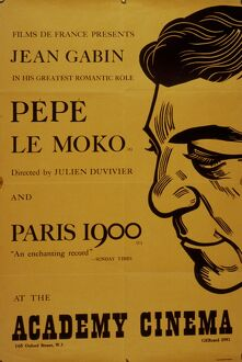 Academy Poster for Julien Duvivier's Pepe Le Mokko (1937)