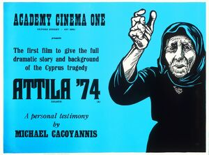 Academy Poster for Michael Cacoyannis' Attila '74 (1975)