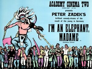 Academy Poster for Peter Zadek's I'm an Elephant, Madame (1968).