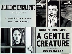 Academy Poster for Robert Bresson's A Gentle Creature (1969)