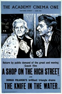 Academy Poster for A Shop on the High Street (Jan Kadar, 1965) and The Knife in the Water