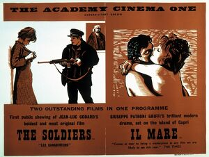 Academy Poster for The Soldiers (Jean-Luc Godard, 1963) and Il Mare (Giuseppe Patroni Griffi