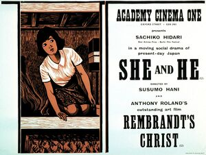 Academy Poster for Susumu Hani's She and He (1963)