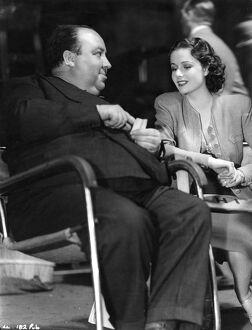 Alfred Hitchcock and Margaret Lockwood on the set of The Lady Vanishes (1938