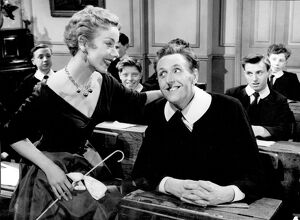 Aud Johansen and Cardew Robinson in Maurice Elvey's Fun at St Fanny's (1954)