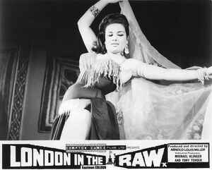 Belly Dancer at the Omar Khayyam Club from Arnold Louis Miller's London in the Raw
