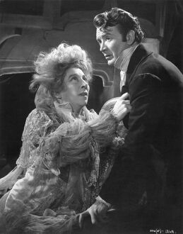 Martita Hunt and John Mills in David Lean's Great Expectations (1946)