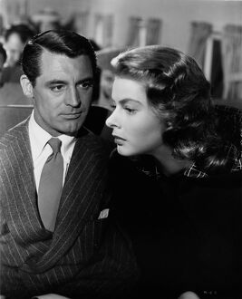 Cary Grant and Ingrid Bergman in Alfred Hitchcock's Notorious (1946)
