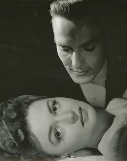 George Sanders and Donna Reed in Albert Lewin's The Picture of Dorian Gray (1946)