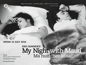 BFI Poster for Eric Rohmer's My Night With Maud (1969)