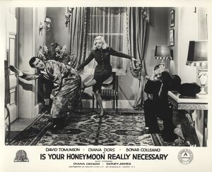 Bonar Colleano and Diana Dors in Maurice Elvey's Is Your Honeymoon Really Necessary