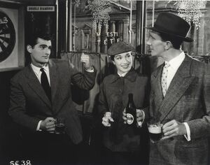 Bonar Colleano, Pat Kirkwood and Nat Jackley in Maurice Elvey's Stars in Your Eyes (1956)