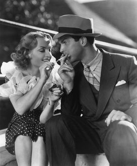 Carole Lombard and Fred MacMurray in Mitchell Leisen's Hands Across The Table (1935)