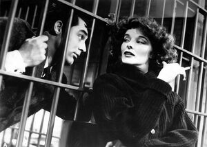 Cary Grant and Katharine Hepburn in Howard Hawks' Bringing Up Baby (1938)