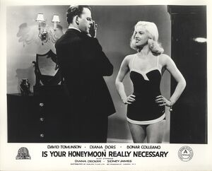 David Tomlinson and Diana Dors in Maurice Elvey's Is Your Honeymoon Really Necessary