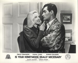 Diana Dors and Bonar Colleano in Maurice Elvey's Is Your Honeymoon Really Necessary
