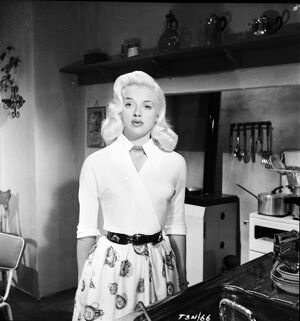 Diana Dors in Leslie Arliss' Miss Tulip Stays the Night (1955)