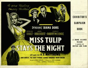 Exhibitor's Campaign Book Cover for Leslie Arliss' Miss Tulip Stays The Night (1955)