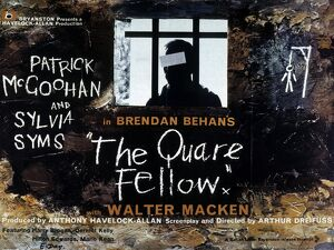 Film Poster for Arthur Dreifuss' The Quare Fellow (1964)