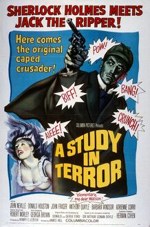 Film Poster for James Hill's A Study in Terror (1965)
