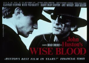 Film Poster for John Huston's Wise Blood (1979)