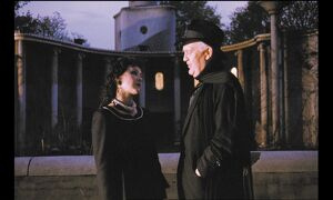 Frances Barber and Joss Ackland in Peter Greenaway's A Zed & Two Noughts (1985)