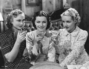 Googie Withers, Margaret Lockwood, and Sally Stewart, in Alfred Hitchcock's The Lady Vanishes