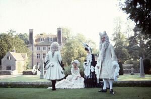 Janet Suzman, Anne Louise Herbert, and Hugh Fraser in Peter Greenaway's The Draughtsman's