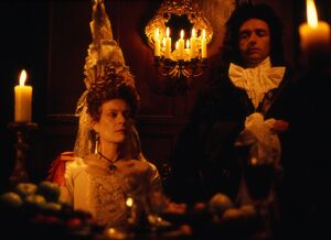 Janet Suzman and Anthony Higgins in Peter Greenaway's The Draughtsman's Contract