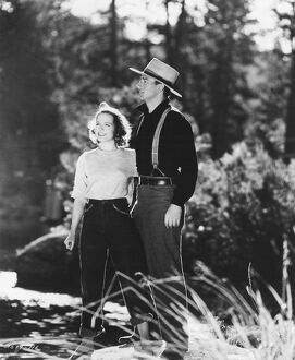 John Wayne and Betty Field in Henry Hathaway's Shepherd Of The Hills (1941)