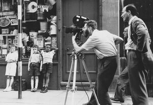 Karel Reisz and Walter Lassally filming We Are The Lambeth Boys (1959)