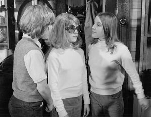 Keith Chegwin, Tracey Collins, and Julie Collins in Milo Lewis' The Troublesome Double (1971)