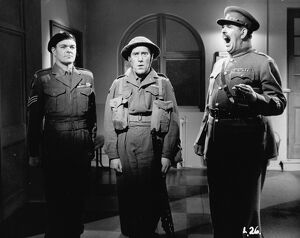 Michael Kelly, Tommy Trinder, and RSM Brittain in Maurice Elvey's You Lucky People! (1955)