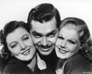 Myrna Loy, Clark Gable, and Jean Harlow in Clarence Brown's Wife vs Secretary (1936)