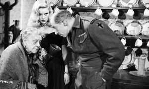 Olive Sloane, Diana Dors, and Alan Sedgwick in Maurice Elvey's My Wife's Lodger