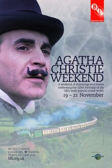 Poster for Agatha Christie Weekend at BFI Southbank (15-21 November 2010)