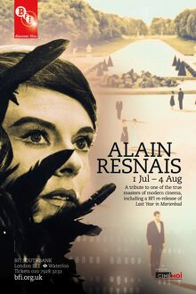 Poster for Alain Resnais Season at BFI Southbank (1 July - 4 August 2011)