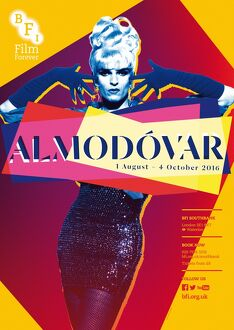 Poster for Almodovar Season at BFI Southbank (1st August - 4th October 2016)